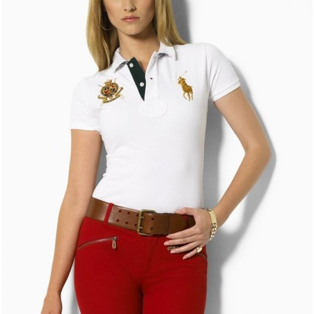 Ralph Lauren Womens Big Pony Polo Short T Shirts Clothing