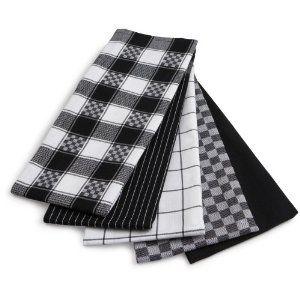 14 21 5 Piece Egyptian Flat Kitchen Towel Set By Ritz Kitchen