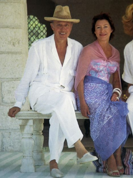 The Late Lord Glenconner With His Life Long Friend Princess Margaret Countess Of Snowdon On Mustique Island Which He Bought In 1958