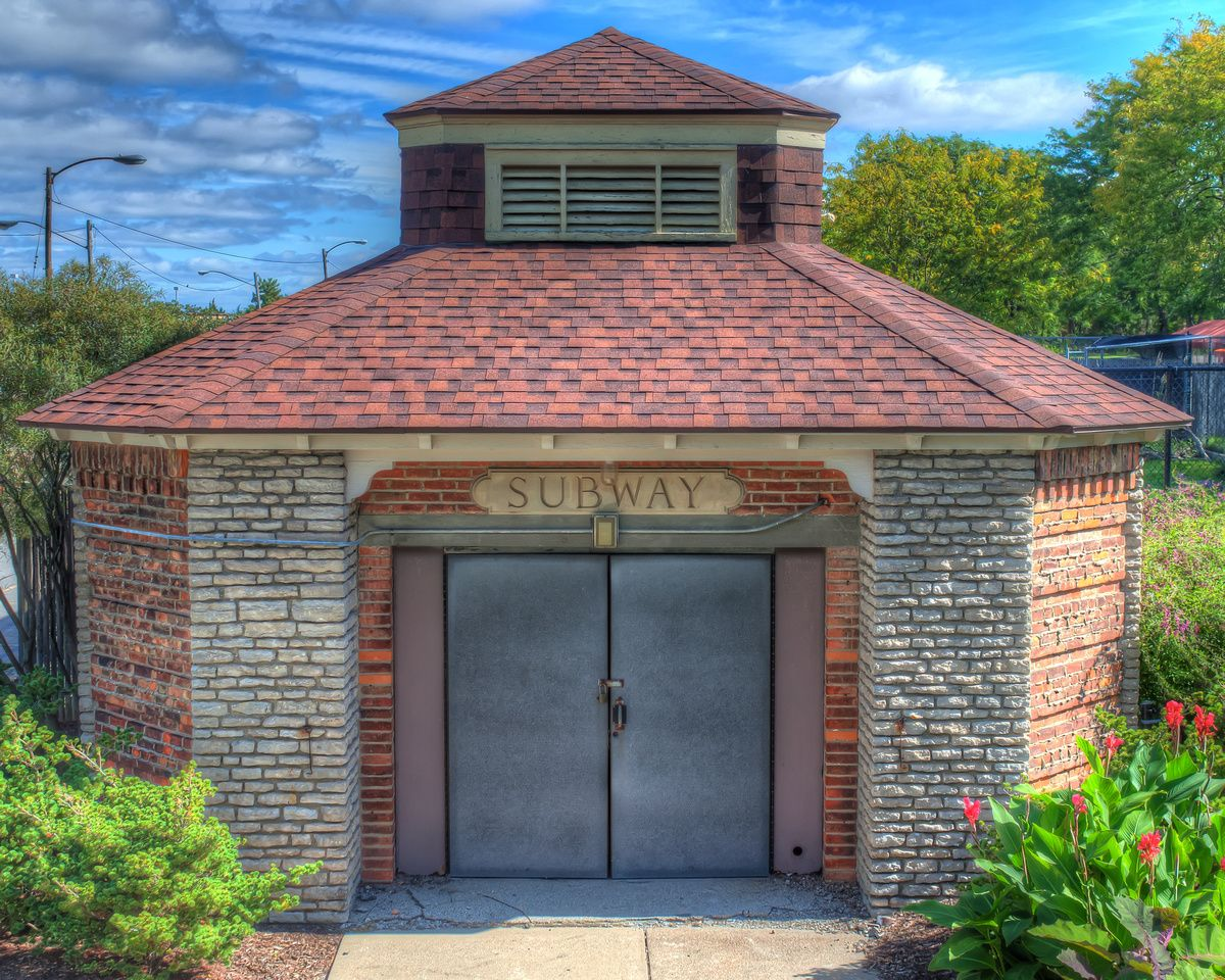 toledo zoo old tunnel entrance subway hdr