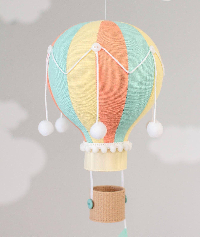 Hot Air Balloon, Giraffe Baby Mobile, Nursery Decoration