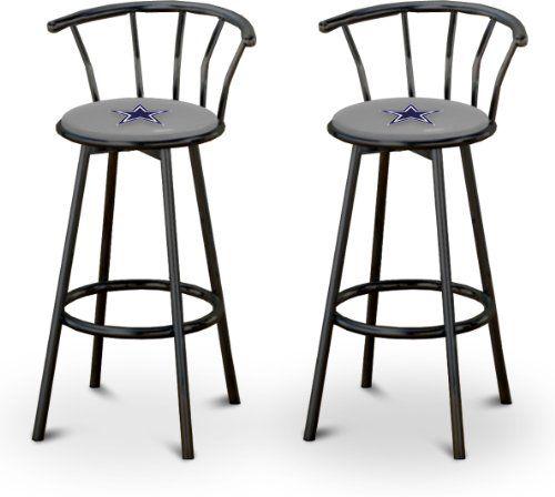 2 24 Dallas Cowboys Logo Themed Custom Specialty Black Swivel Seat