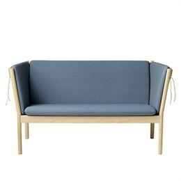 Sofa designklassiker  Erik Ole Jørgensen J148 - 2 pers - Eg/støvet blå Sofa ...