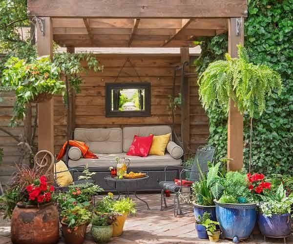 Creating A Secret Garden Garden Sitting Areas Small Patio Garden Garden Seating Area