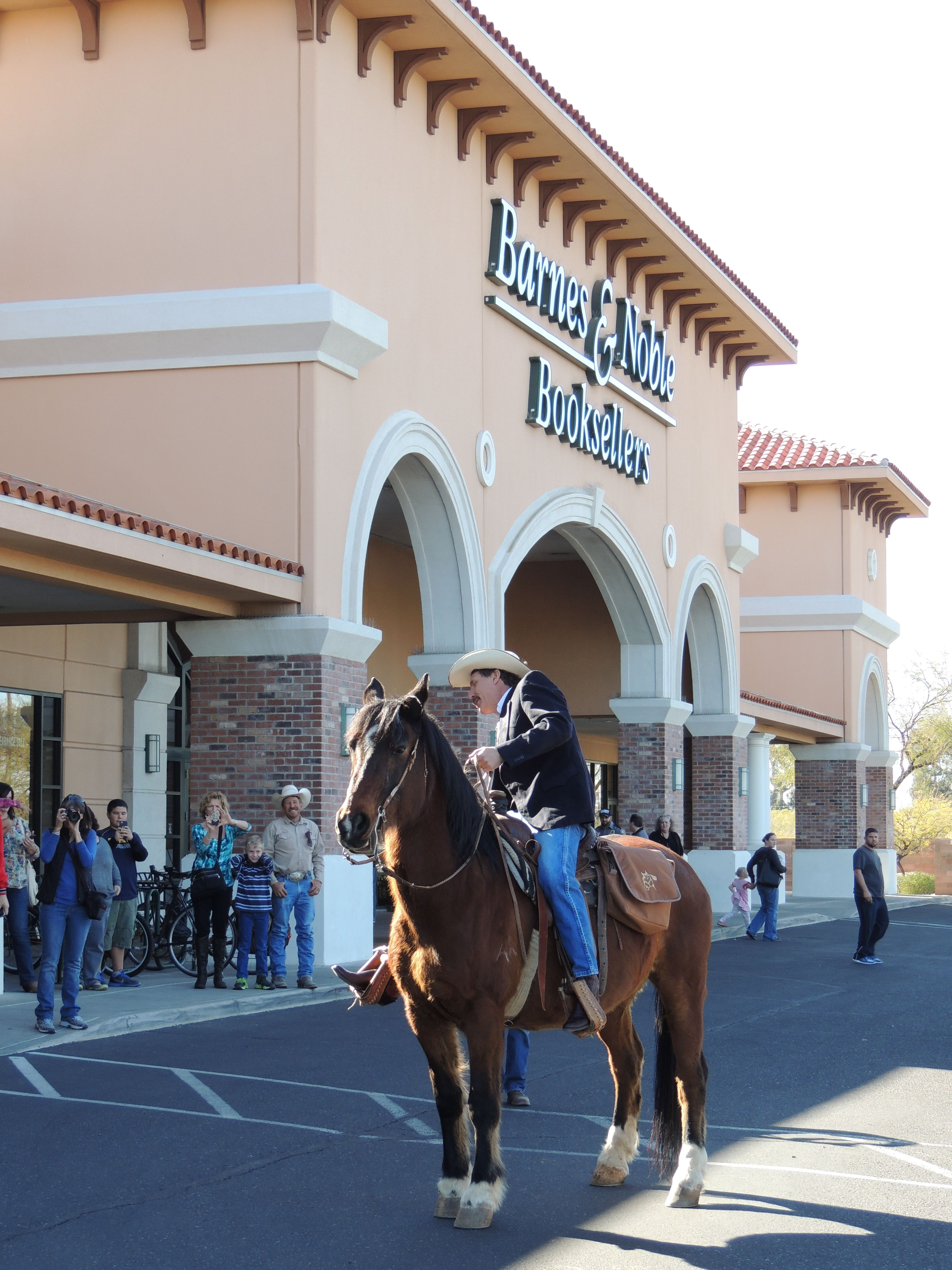 Carew Papritz, author of the inspirational book, The Legacy Letters, made history with the first ever e-book/book signing on horseback! The event took place on Saturday, January 18th, 2014 at Barnes & Noble Booksellers in Tucson, AZ. http://www.youtube.com/watch?v=aKEsxqmzs9g