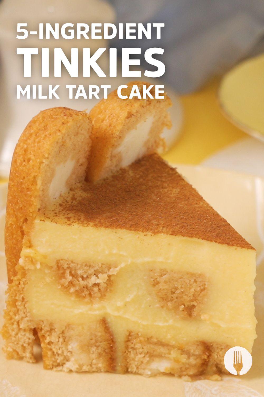 5 Ingredient Tinkies Milk Tart Cake Milk Tart Baking Book African Dessert