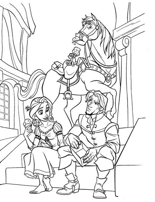 Princess Rapunzel Colouring Pages - Princess Rapunzel Coloring Pages ...