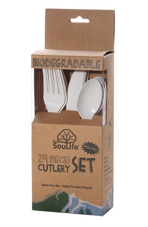 #Besteck #EcoSouLife #BC001   EcoSouLife Cornstarch Cutlery Set  Disposable fork Disposable knife Disposable spoon Cornstarch Elfenbein     Hier klicken, um weiterzulesen.