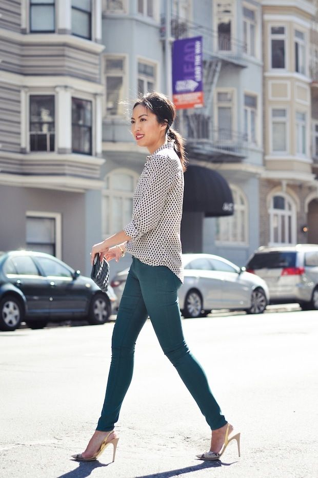 Simple + chic: classic shirt + jeans