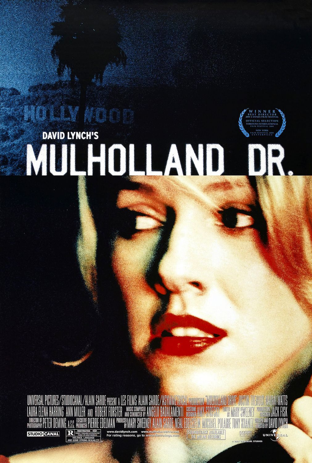 "MP258. ""Mulholland Drive"" Movie Poster by Bemis Balkind (David Lynch 2001) / #Movieposter"