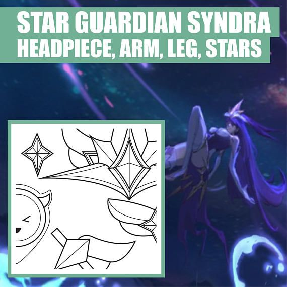 Star guardian syndra headpiece crown stars and more star guardian syndra headpiece crown stars and more blueprint pattern malvernweather Gallery