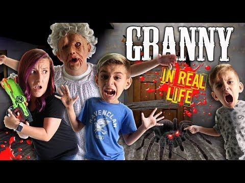 Granny Horror Game In Real Life Funhouse Family Spider