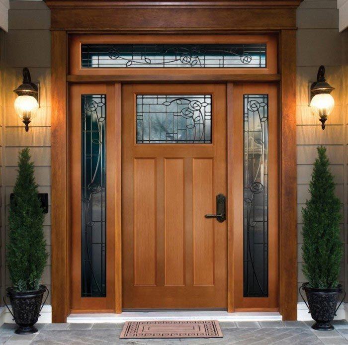 puertas de entrada de madera para exteriores modelos
