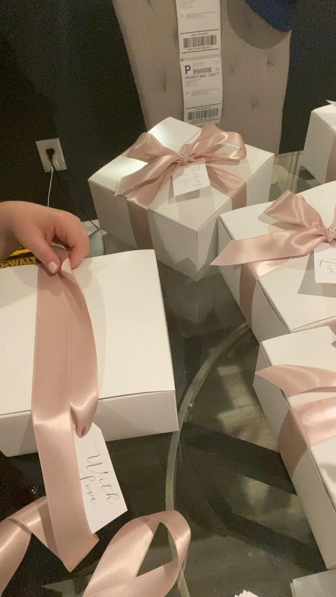 How to Tie a Bow On a Gift Box!