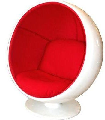 Pairs nicely with Americana by drop it Modern. Modern chair; red pod chair.