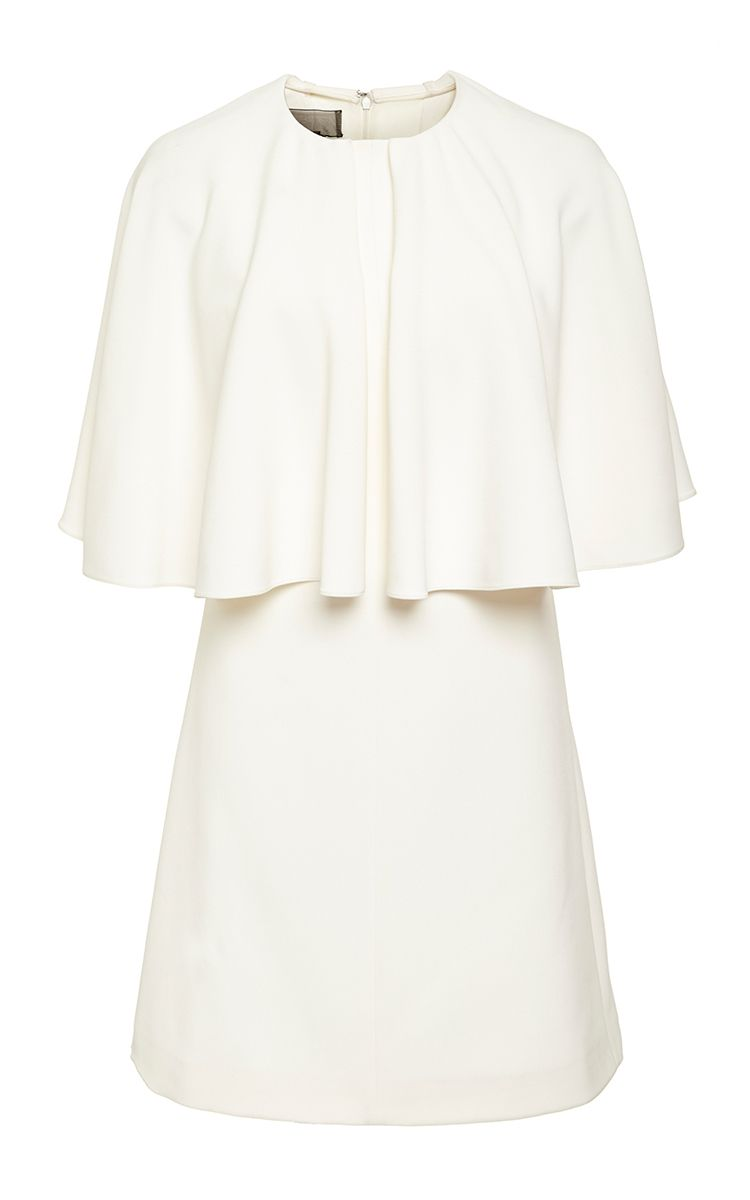 Ivory Short Sleeve Structured Dress  by Giambattista Valli Now Available on Moda Operandi