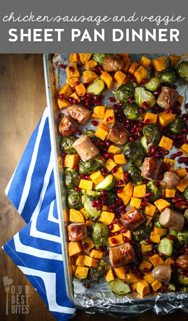 Roasted Chicken Sausage & Veggie Sheet Pan Dinner #onepandinners