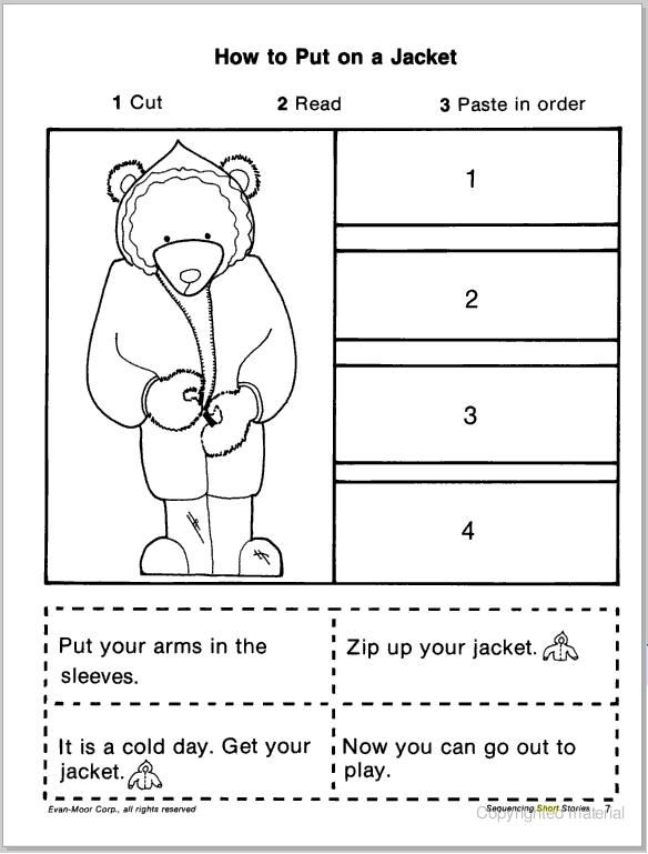 s9JPG 584 769 Education writing and reading – Picture Story Sequencing Worksheets Kindergarten