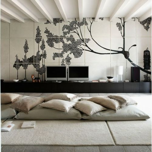 Orientalische Wohnideen-verschönern Sie Ihr Wohnzimmer mit - Wohnzimmer Modern Lila