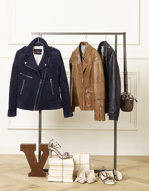 leather on hangers