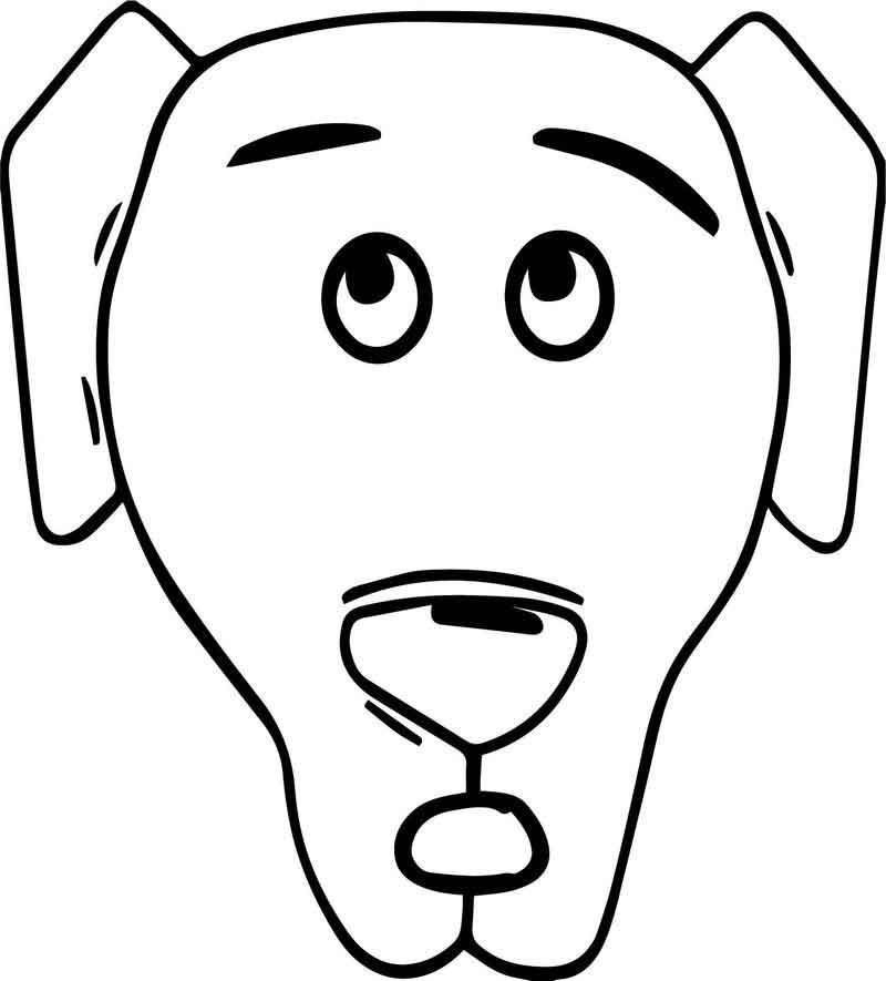 A Dog Face Coloring Page Coloring Pages Free Coloring Sheets