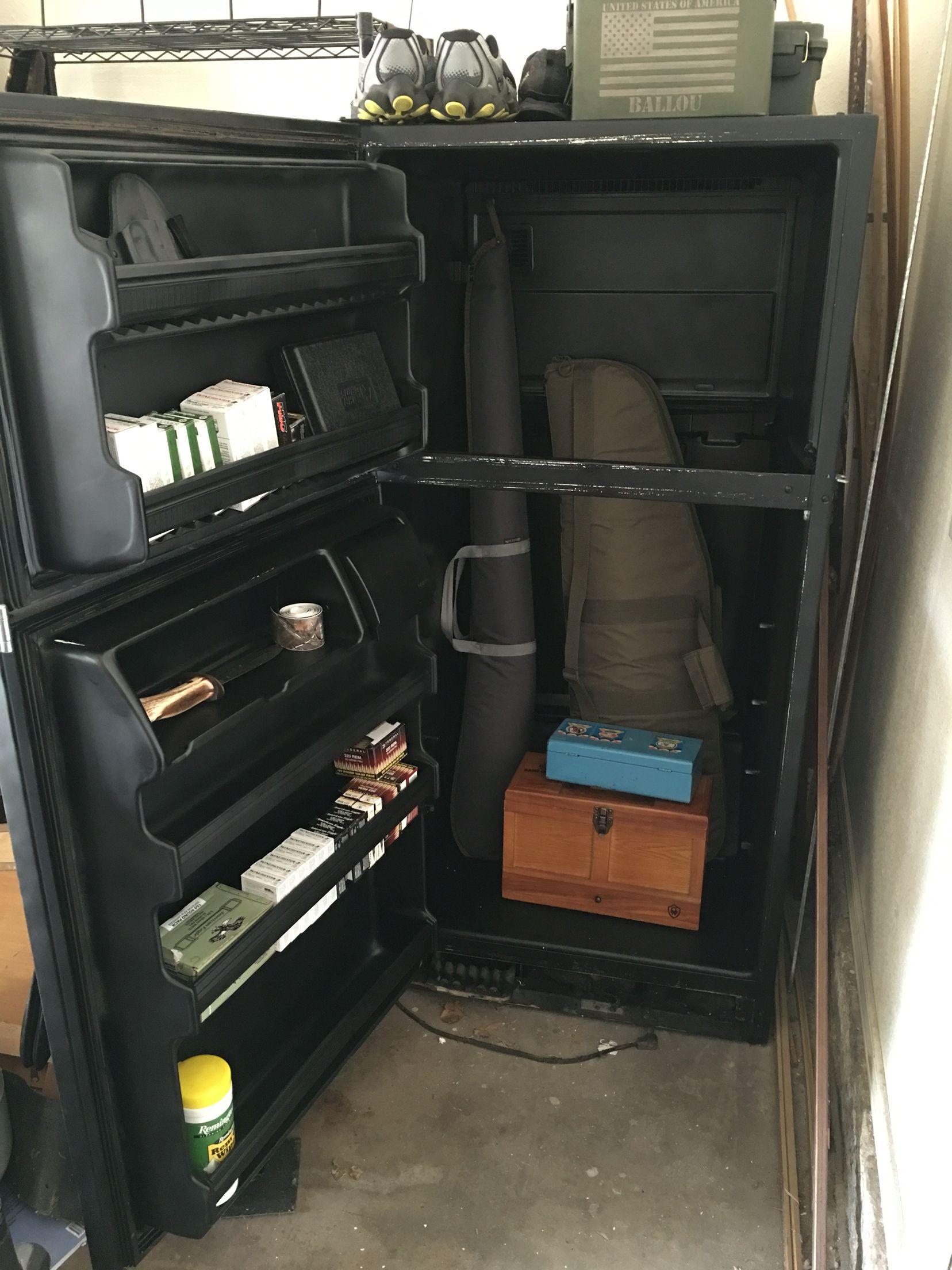 Gun Safe I Upcycled From Old Refrigerator Mantastic