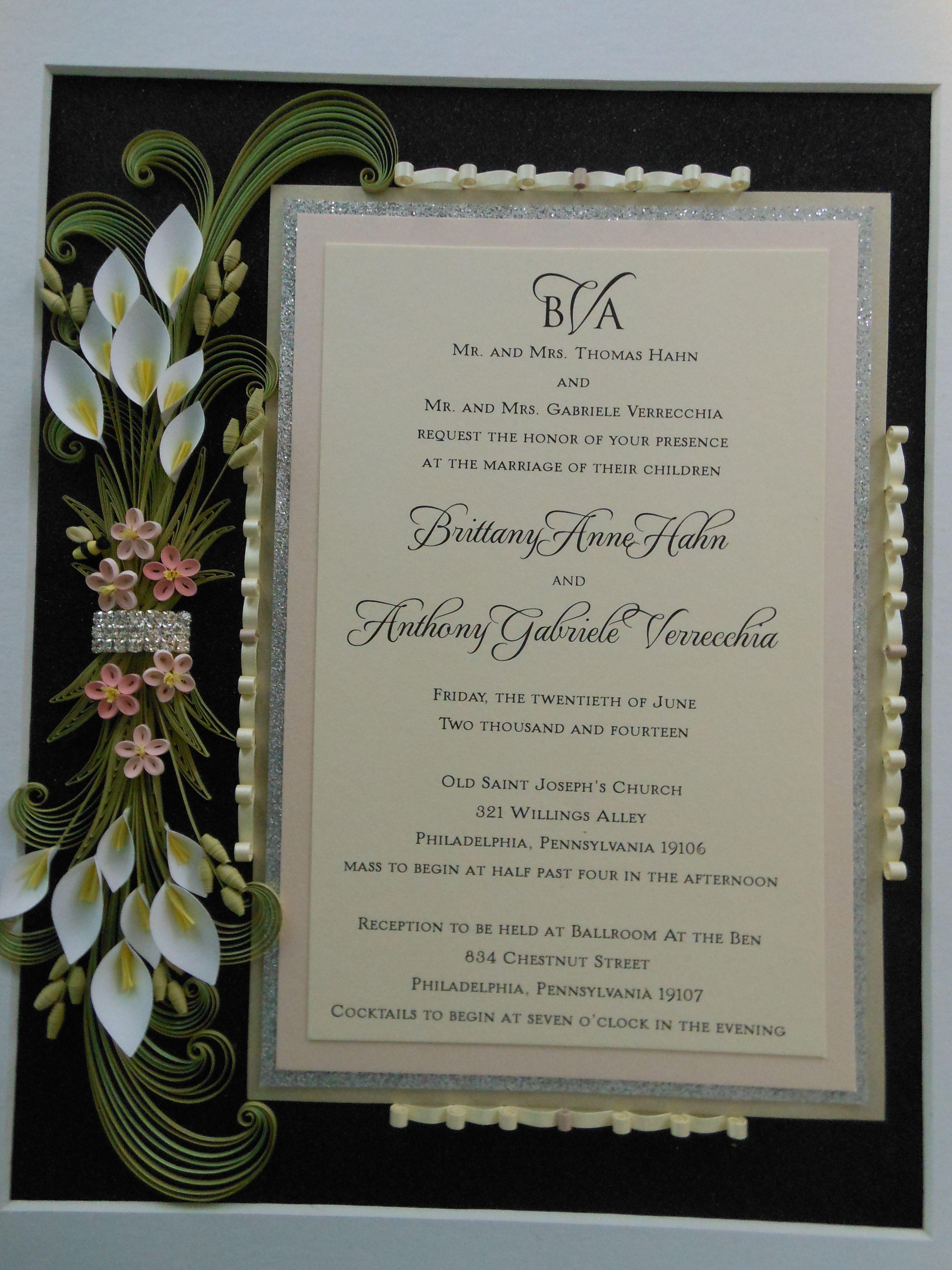 wedding invitation  quilling designs wedding anniversary