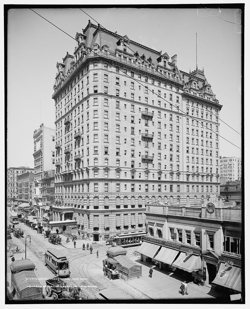 Hotel Manhattan, New York; 1904. | 1901 - 1909 - Theodore Roosevelt ...