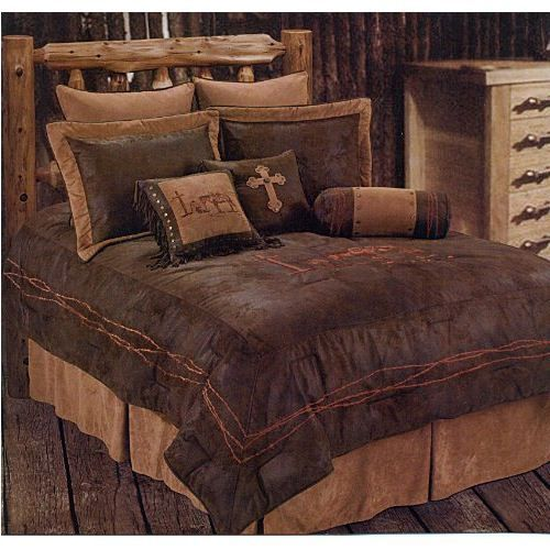 Western Rustic Country Cowboy Praying Comforter Cross Bedding Set 5pc King Country Bedding Sets Rustic Comforter Sets Rustic Bedding Comforters