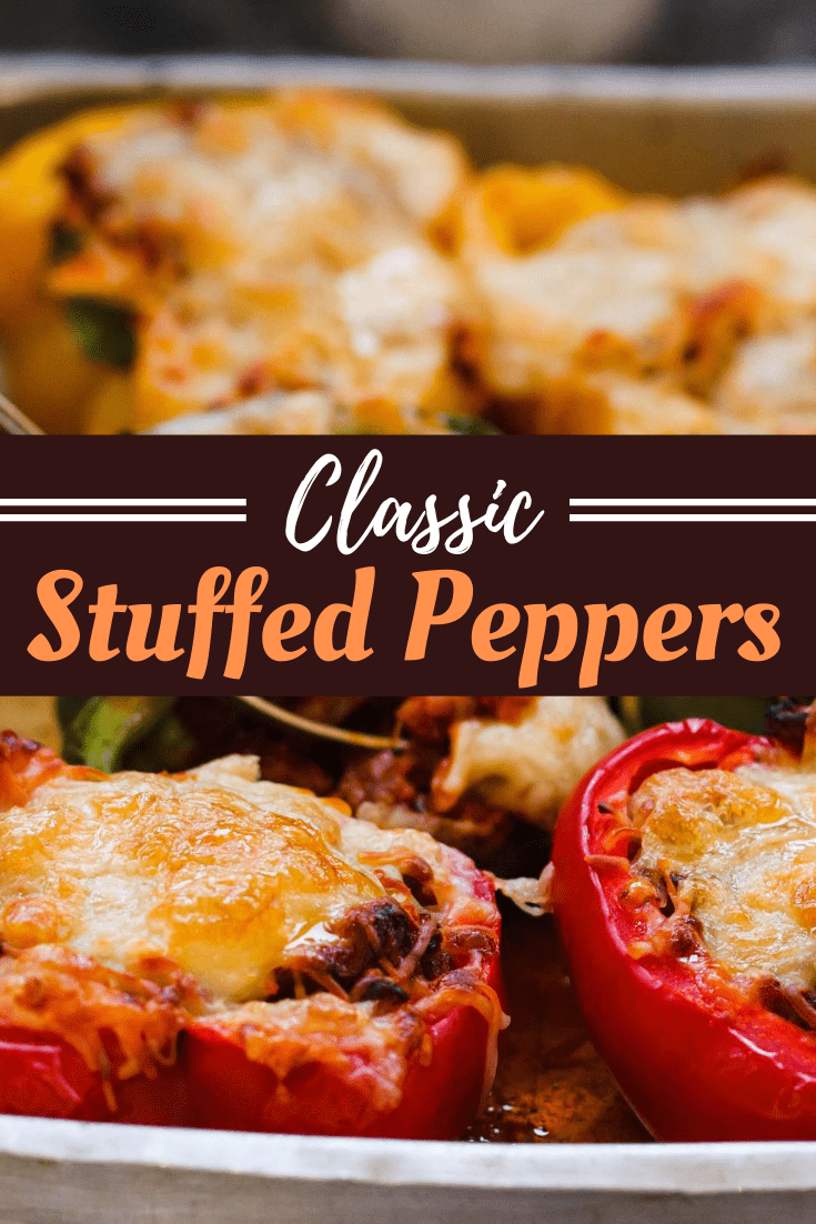 Stuffed Bell Peppers Recipe Easy Classic Recipe In 2020 Stuffed Peppers Stuffed Bell Peppers Bell Pepper Recipes