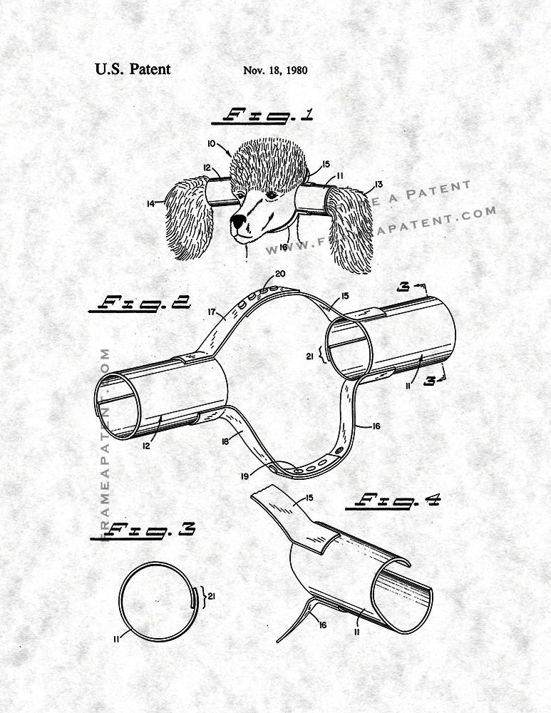 Animal Ear Protectors Patent Print