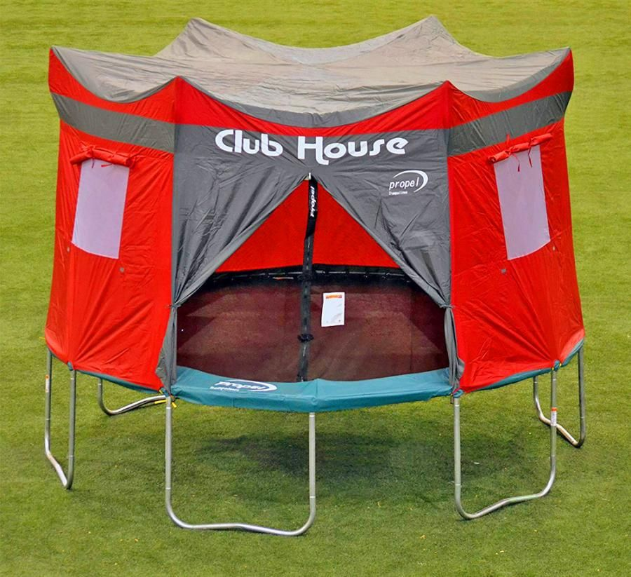 This Clubhouse Trampoline Cover Turns Your Kids Tramp Into