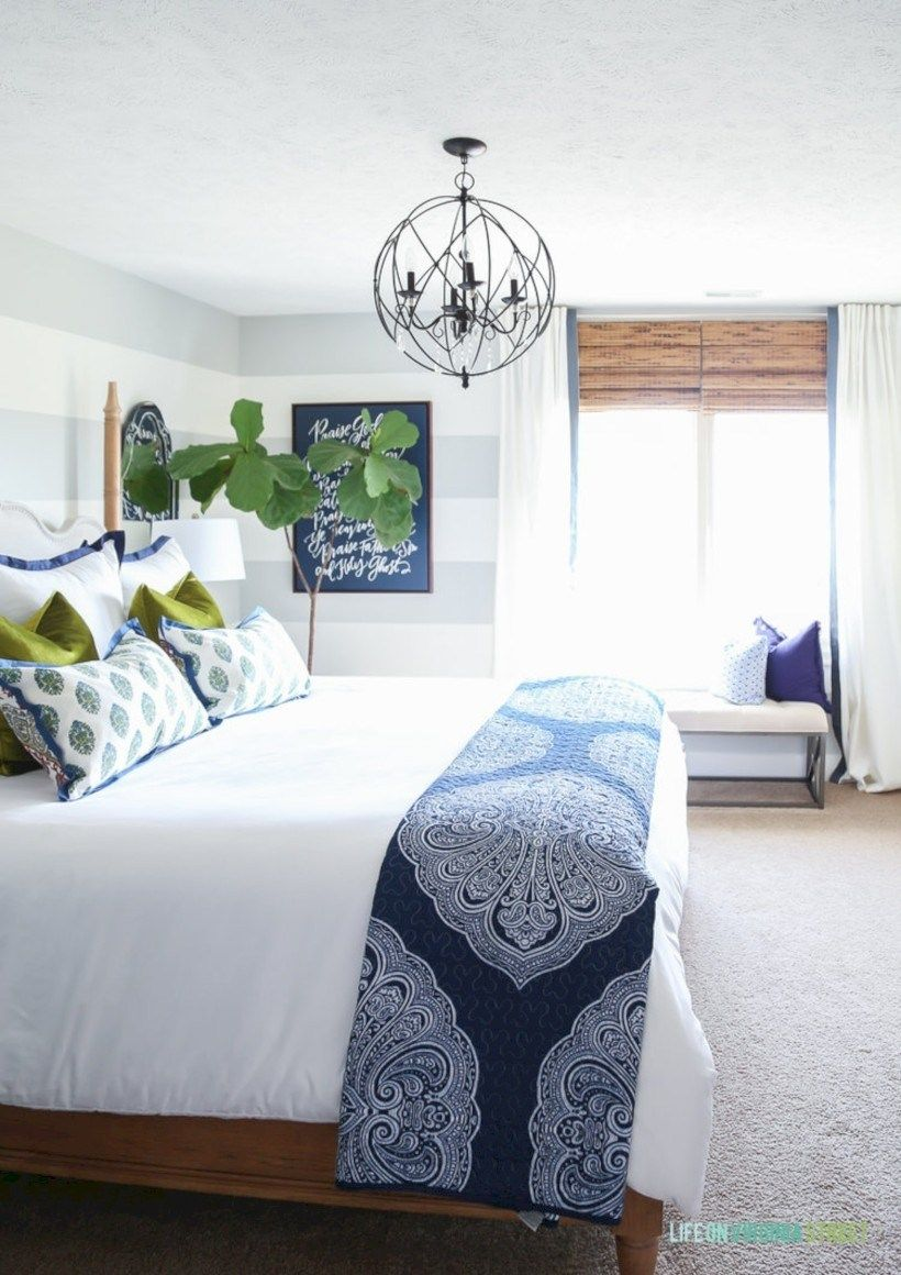 40 Cool Blue And White Bedroom Design Ideas | Master ...