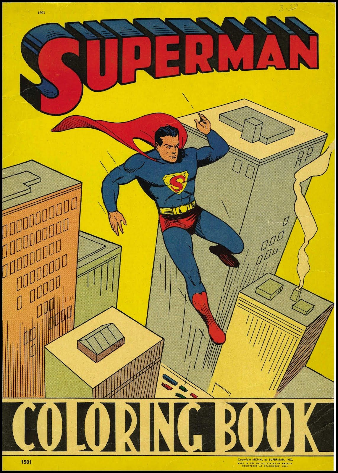 Superman Coloring Book, 1940. | Vintage art | Pinterest | Coloring ...