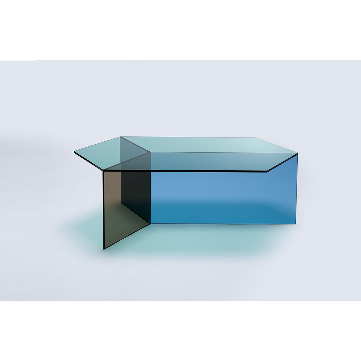 Isom Oblong Multi Siglo Moderno Colored Glass Oblong Coffee Table [ 1500 x 1500 Pixel ]