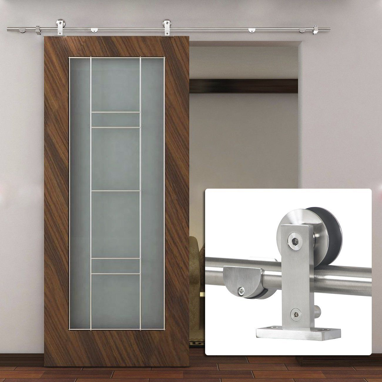 Homemade Sliding Door Closer: Amazon.com: Bellezza© 6.6 FT Stainless Steel Modern