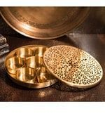 Buy Courtyard Gold Brass Mashaladan Spice Box Online Shop from wide range of F