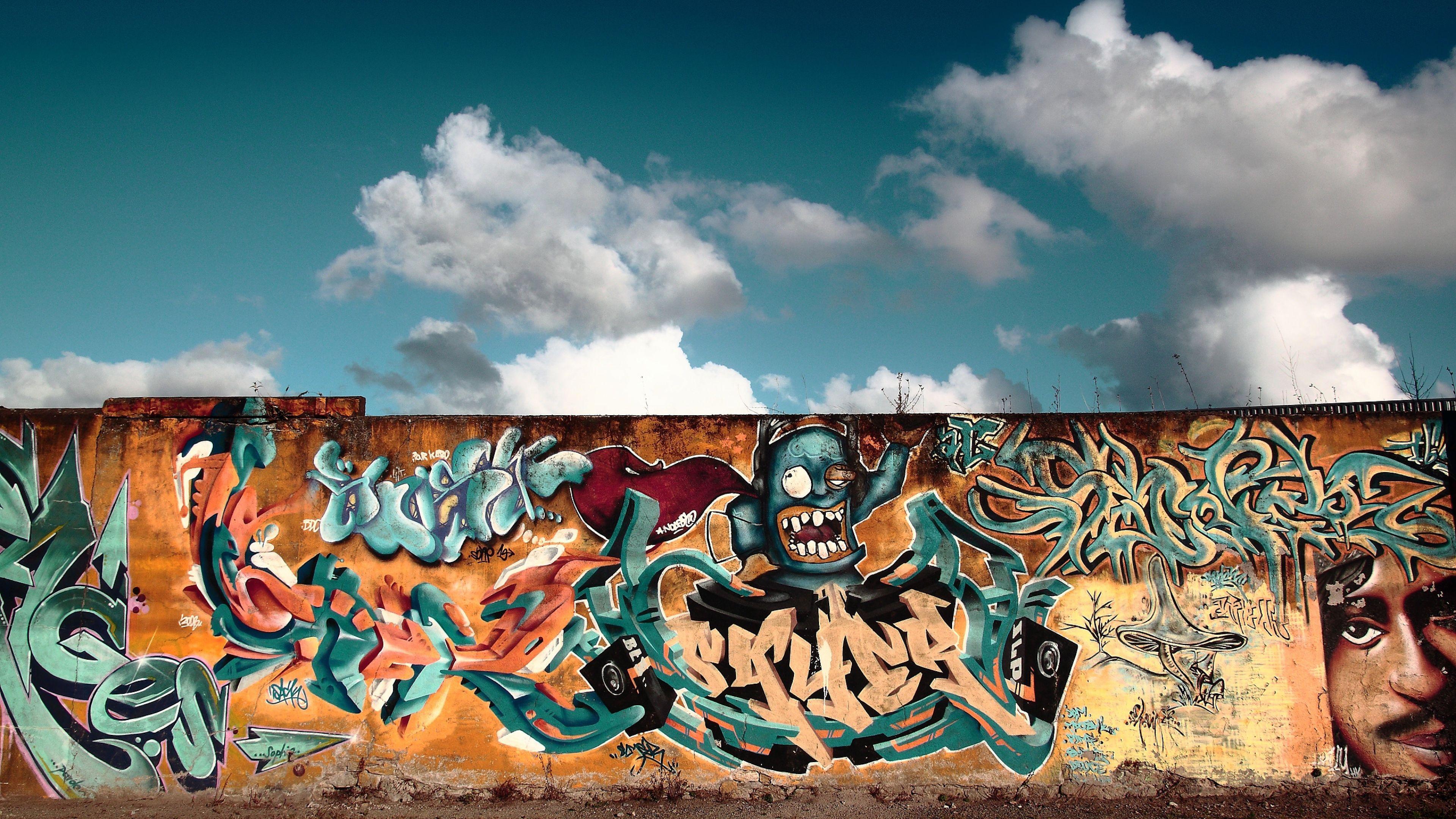 Graffiti wall pictures - Graffiti Wallpaper City Colorful Full Hd