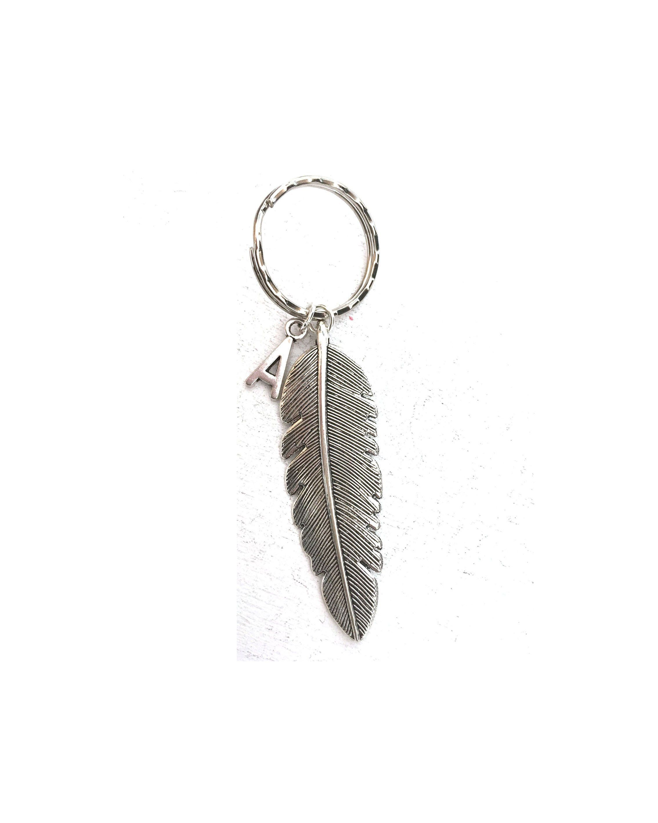 Large Feather Keyring Feather Keychain Friend Gifts