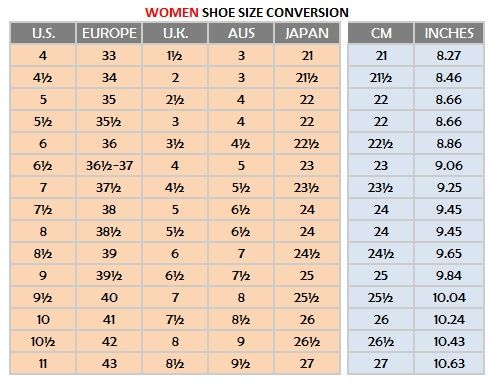 Womens shoe sizing chart women sizes very tango online store also width size conversion the best shoes pinterest rh