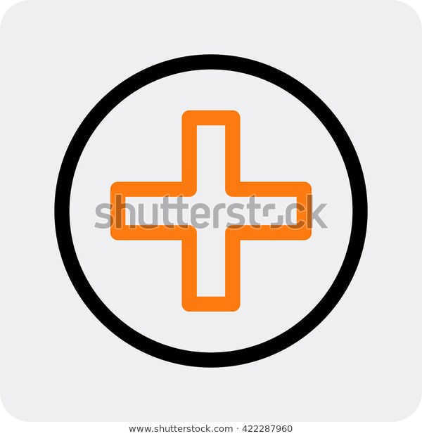 Ambulance Vector Icon Cross Circle Stock Image Download Now Vector Icons Shutterstock Lettering