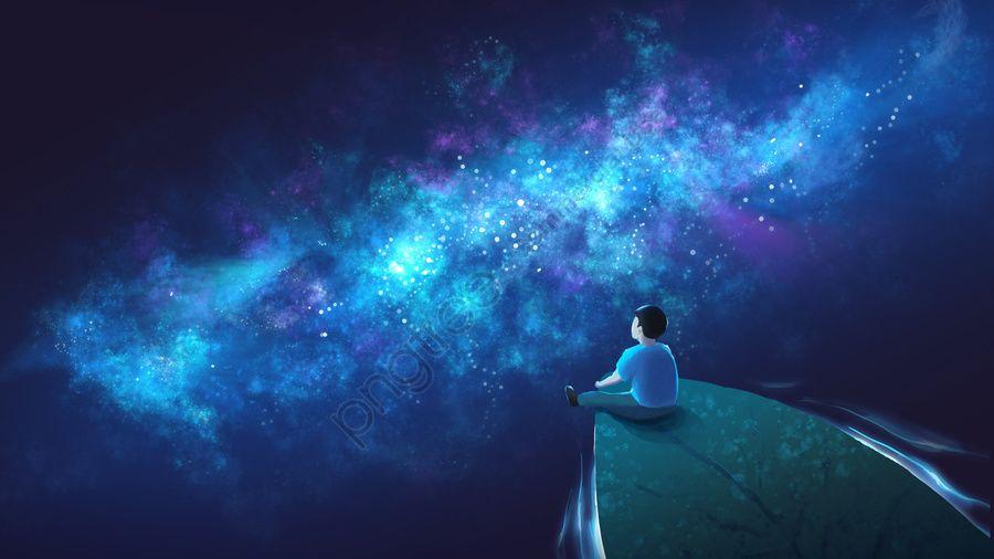 التوضيح الأصلي يعالج بحر النجوم الشاسع كسينفاي شفاء سماء الليل صورة توضيحية على Pngtree غير محفوظة الحقوق Image Illustration Sea Of Stars Night Skies