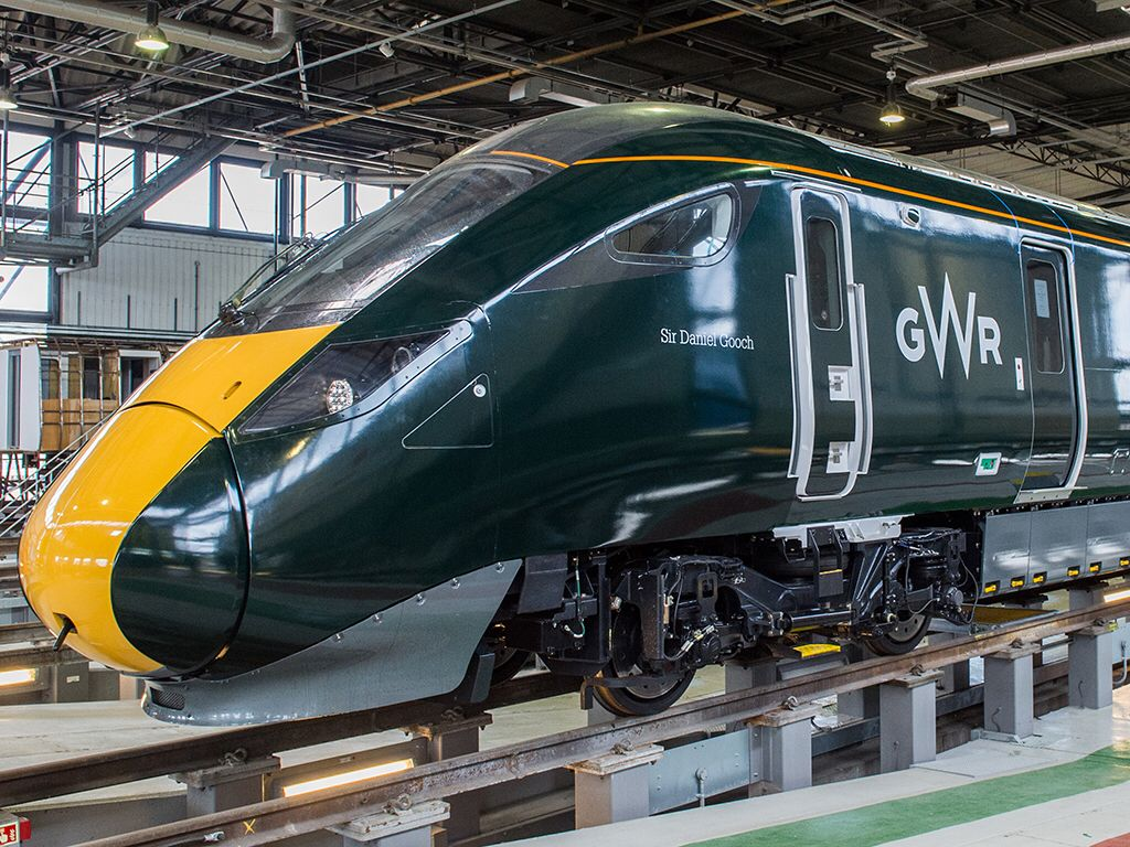 Hitachi Class 800 trainsets for Great Western Railway