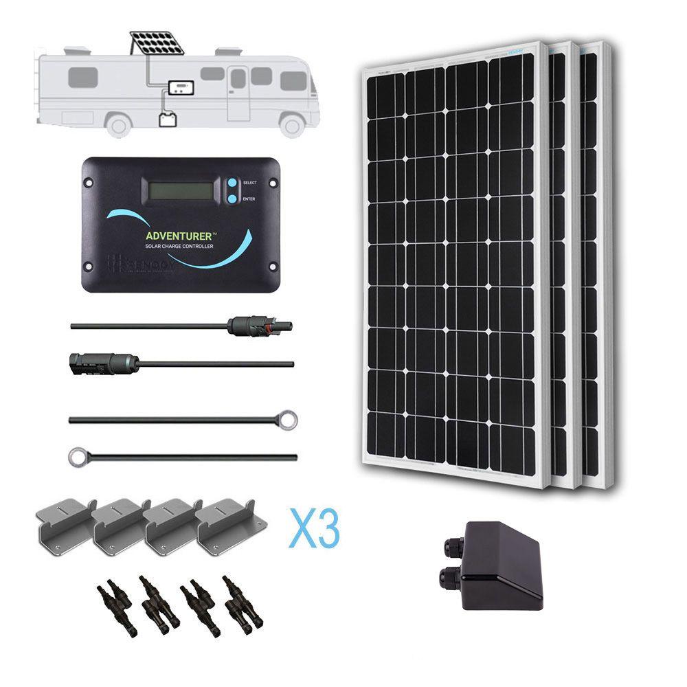 300 Watt 12 Volt Solar Rv Kit Solar Kit Solar Panels Best Solar Panels