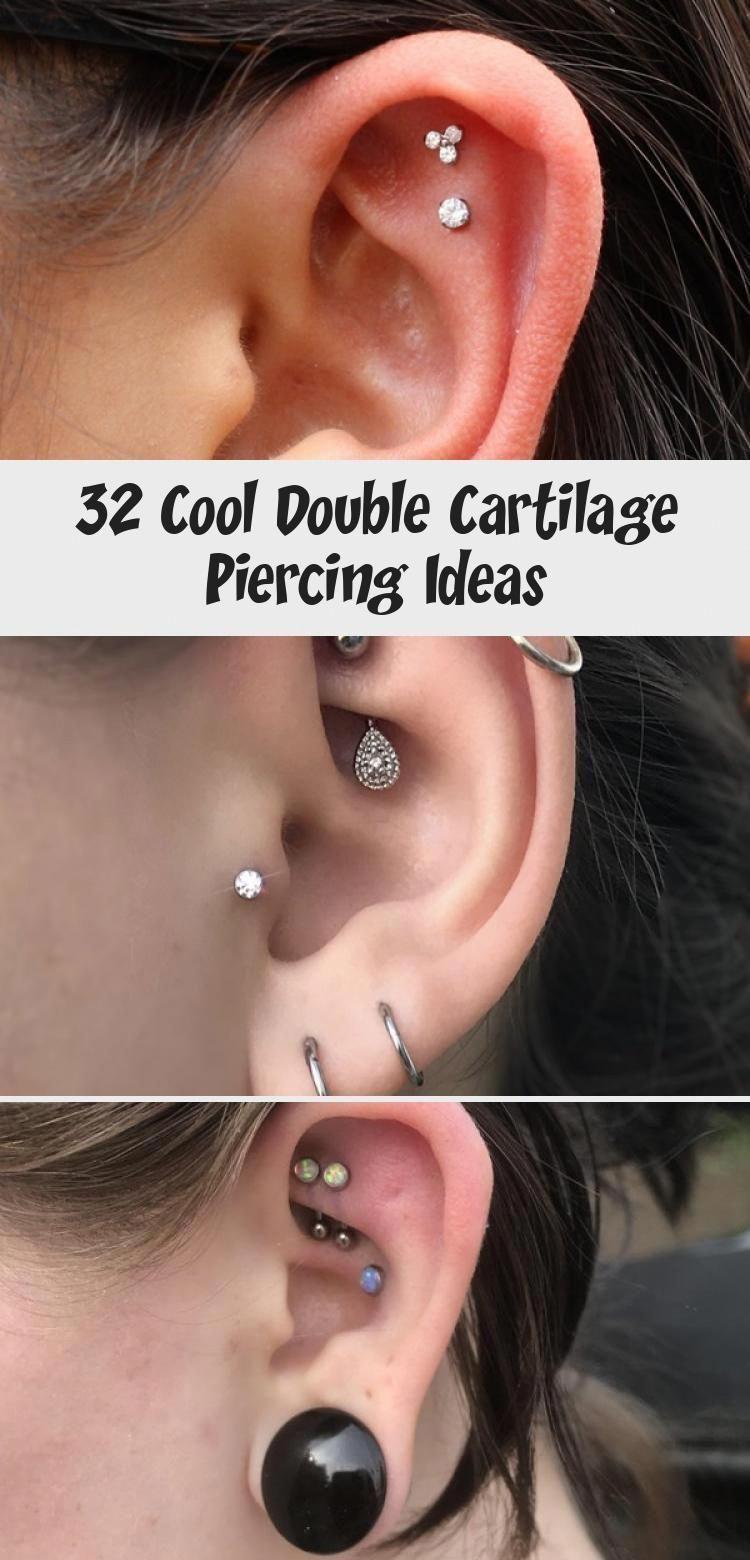 32 Idées de Piercing Double Cartilage Cool - Piercing - 32 Idées de Piercing Double Cartilage ...