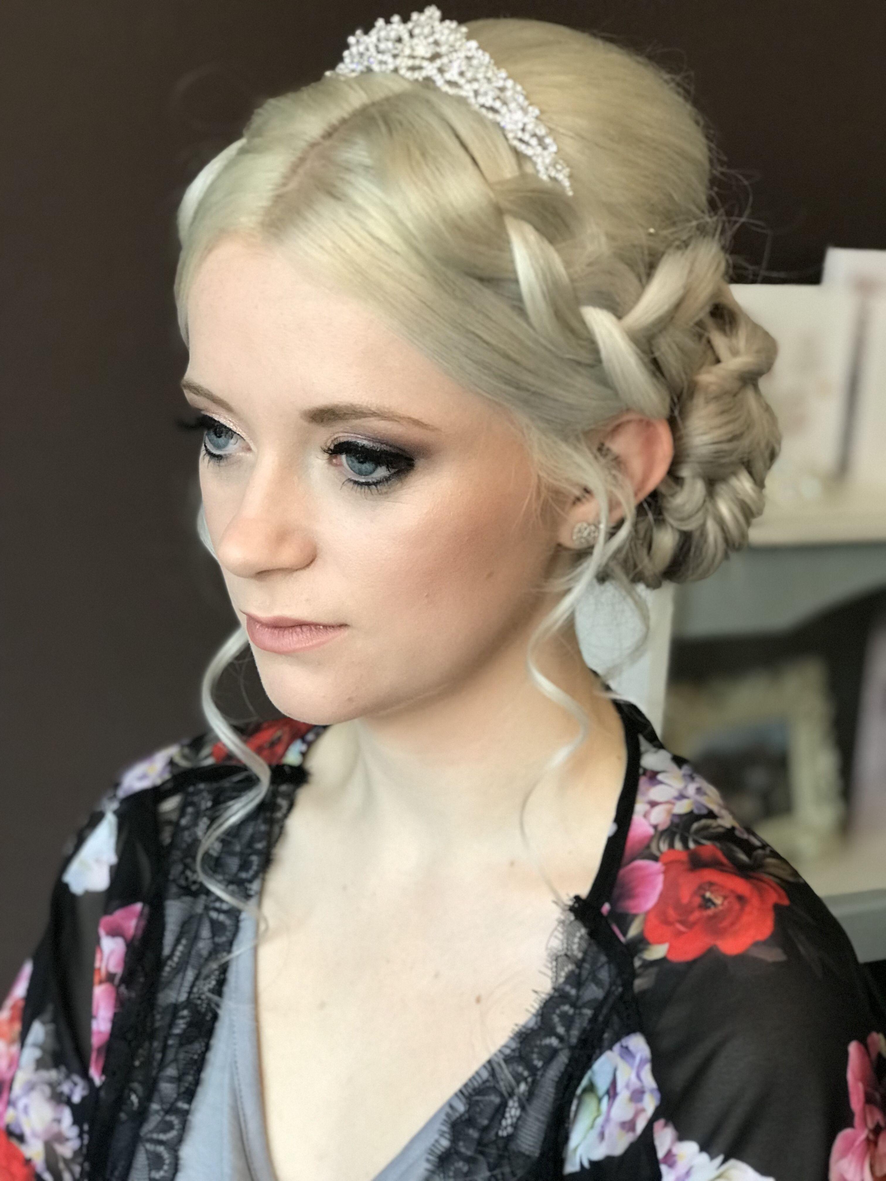 Braided Up Do Course Hair Bridal Hair Updo Hair Makeup