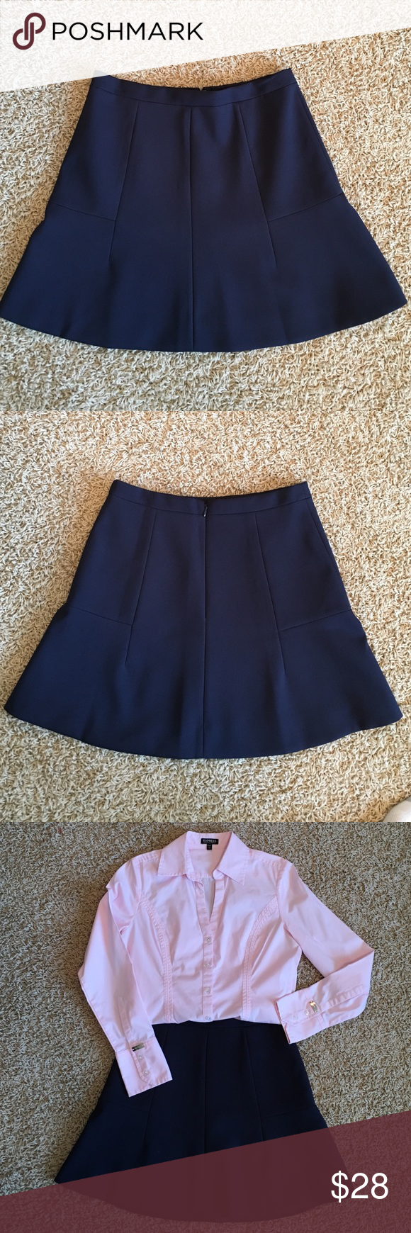 🍁🍂 J. Crew Navy Skirt 🍂🍁 J. Crew Navy Skirt, Size 0, 75% polyester, 20% viscose, 5% spandex 100% polyester lining, Perfect condition J. Crew Skirts