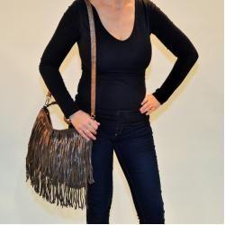 Photo of Proud Sophia Shoulder Bag Metallic Beige Proud