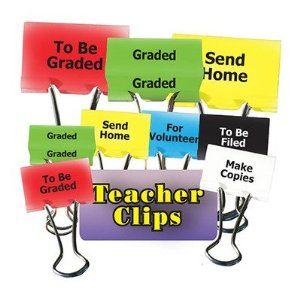 Amazon.com: Things To Do Teacher Clips 2In 6Pk: Toys & Games