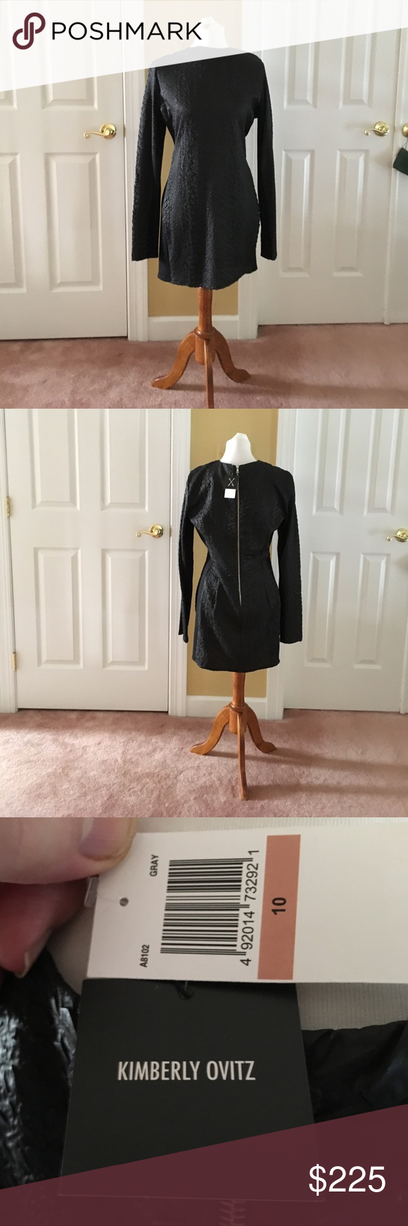 Neiman Marcus Exclusive! Gorgeous Color Block Black Cocktail Dress. Pictures can't explain the exquisite material.  Brand new dress with tags. Never worn. Neiman Marcus Dresses Midi